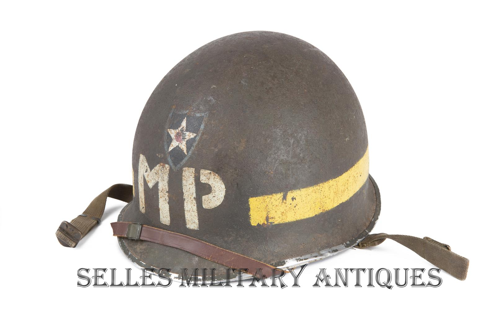 Casque M1 Military Police 2nd I.D. US (1)