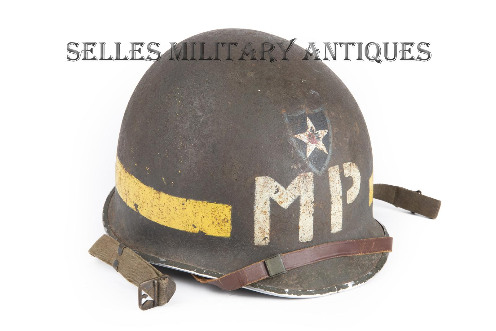 Casque M1 Military Police 2nd I.D. US (2)