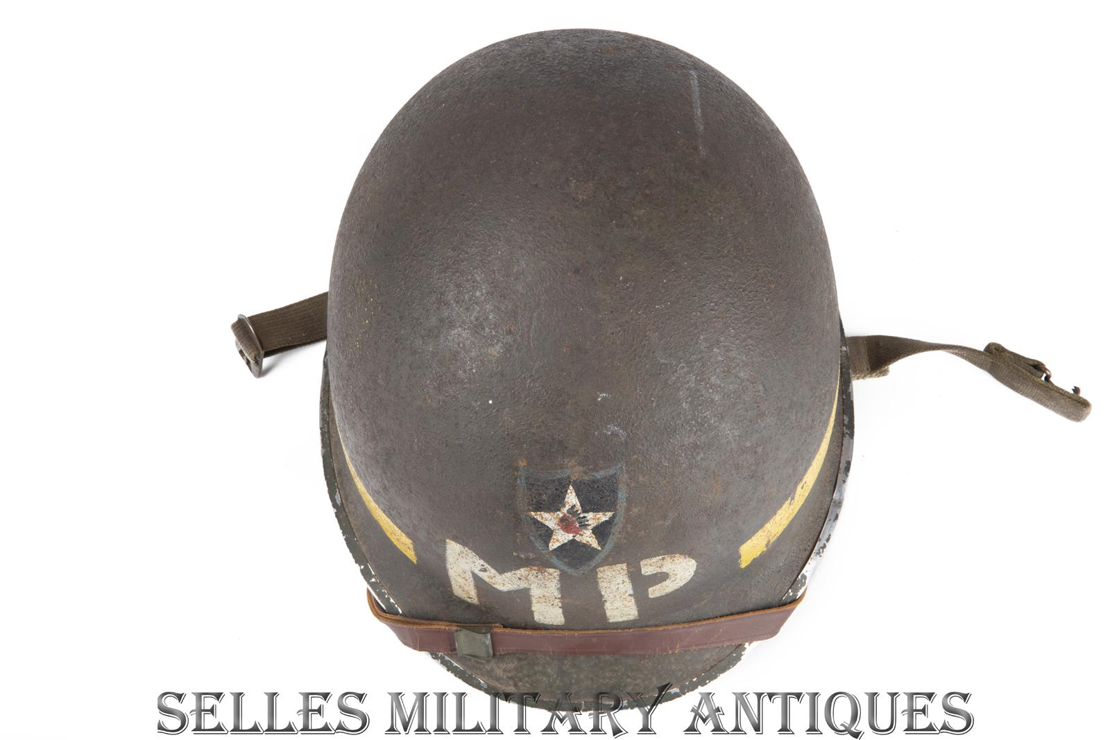 Casque M1 Military Police 2nd I.D. US (5)