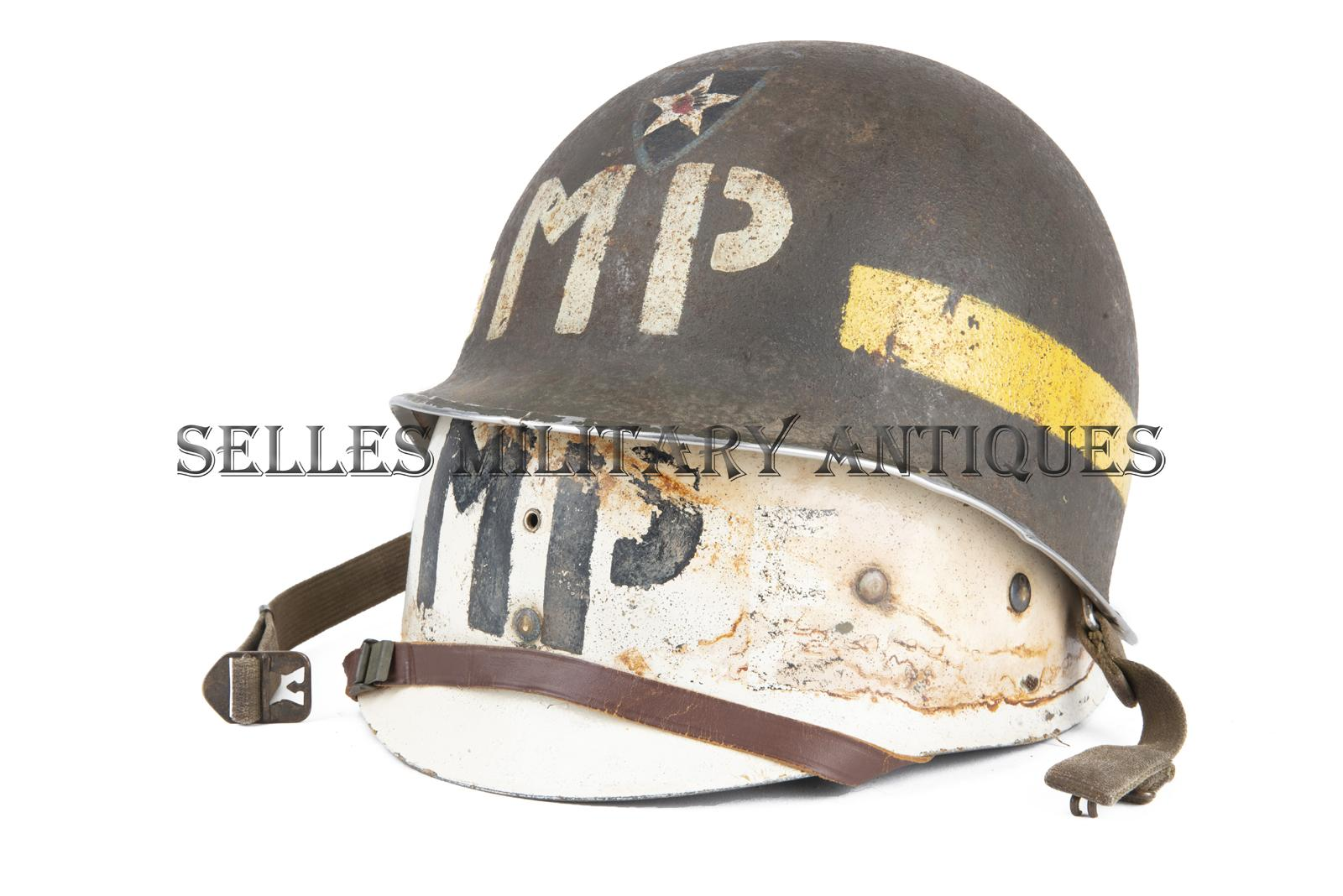 Casque M1 Military Police 2nd I.D. US (6)
