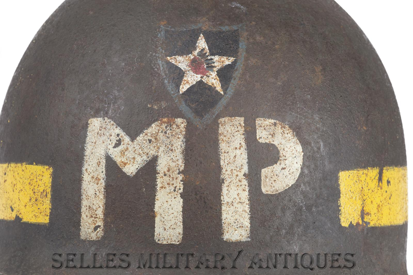 Casque M1 Military Police 2nd I.D. US (8)