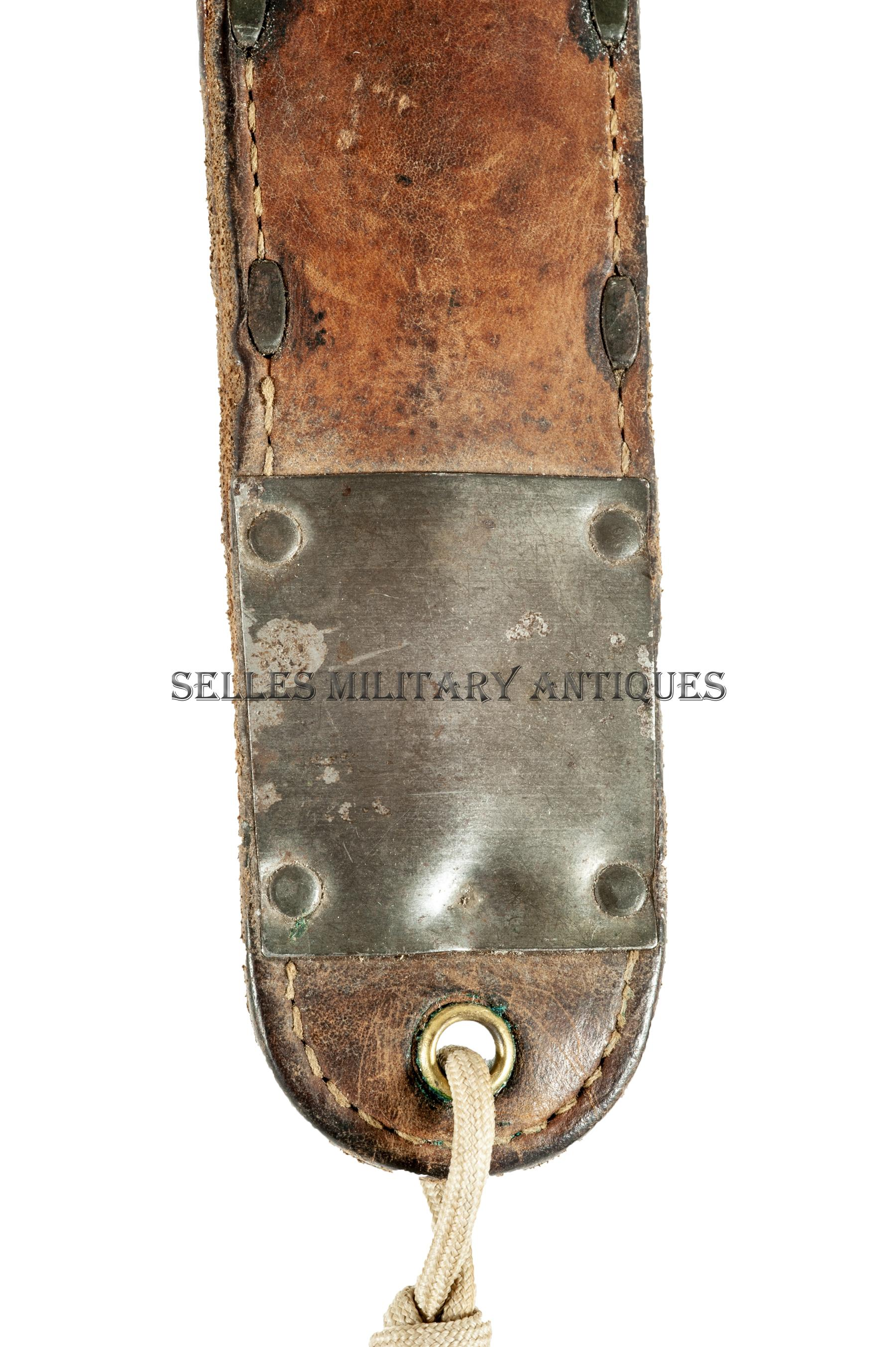 Trench Knife 1918 et son fourreau US (7)